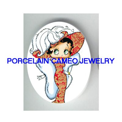 VICTORIAN LADY BETTY BOOP* UNSET CAMEO PORCELAIN CAB