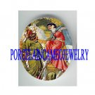 VICTORIAN ROBIN HOOD WITH PRINCESS * UNSET CAMEO PORCELAIN CAB