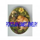 VICTORIAN SLEEPING THUMBELINA DRAGONFLY VIOLET * UNSET PORCELAIN CAMEO CAB