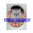 VICTORIAN QUEEN PERSIAN CAT ROSE* UNSET PORCELAIN CAMEO CAB