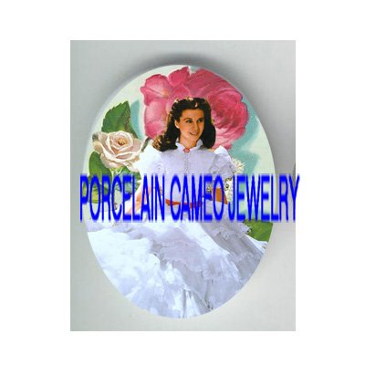 GONE WITH THE WIND PINK ROSE* UNSET PORCELAIN CAMEO CAB