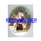 CHRISTMAS SOLDIER NUTCRACKER PORCELAIN CAMEO CAB