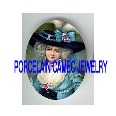 JEWELED QUEEN MARIE ANTOINETTE* UNSET PORCELAIN CAMEO CAB