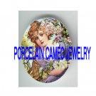 VICTORIAN LADY ROSE FLOWER GARDEN* UNSET PORCELAIN CAMEO CAB