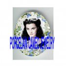 GONE WITH THE WIND SCARLETT ROSE FORGET ME NOT PORCELAIN CAMEO CAB