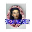 GONE WITH THE WIND SCARLETT CHERRY BLOSSOMS PORCELAIN CAMEO CAB