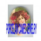 VICTORIAN  SWEET ROSE YOUNG LADY * UNSET PORCELAIN CAMEO CAB