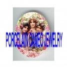 3 VICTORIAN SPRING ROSE LADY SISTERS * UNSET PORCELAIN CAMEO CAB