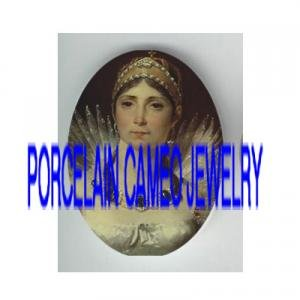 VICTORIAN ROYAL JEWELED PRINCESS * UNSET PORCELAIN CAMEO CAB