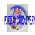 ANGEL ROSE RAINBOW* UNSET PORCELAIN CAMEO CAB