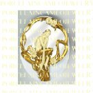 ART NOUVEAU GOLD MERMAID SITTING ON ROSE SWING* UNSET PORCELAIN CAMEO CAB