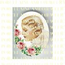 VINTAGE WEDDING BRIDE ROSE LILY OF THE VALLEY* UNSET PORCELAIN CAMEO CAB