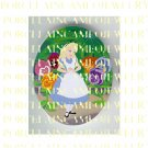 ALICE IN WONDERLAND TALKING PANSY FLOWER* UNSET PORCELAIN CAMEO CAB