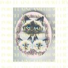 BIRMAN CAT FAMILY MOM 2 KITTY  PURPLE LILACS  * UNSET PORCELAIN CAMEO CAB