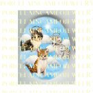 3 ANGEL KITTY CAT WITH HALO* UNSET PORCELAIN CAMEO CAB