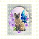SIAMESE CAT FAIRY BUTTERFLY * UNSET PORCELAIN CAMEO CAB