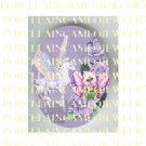 BUTTERFLY KITTY CAT FAIRY PEGASUS HORSE PURPLE ROSE * UNSET PORCELAIN CAMEO CAB