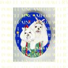 MALTESE DOG MOM PUPPY CHRISTMAS GIFT* UNSET PORCELAIN CAMEO CAB