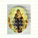 CATHOLIC VIRGIN MARY BABY JESUS ANGEL* UNSET PORCELAIN CAMEO CAB