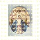 CATHOLIC CROWN VIRGIN MARY ANGEL UNSET PORCELAIN CAMEO CAB