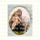 CATHOLIC VIRGIN MARY HOLD BABY JESUS LAMB * UNSET PORCELAIN CAMEO CAB