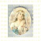 CATHOLIC CROWN VIRGIN MARY PRAYING ROSE UNSET PORCELAIN CAMEO CAB