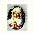 CATHOLIC VIRGIN MARY IN PRAYER* UNSET PORCELAIN CAMEO CAB