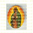 CATHOLIC CROWN VIRGIN MARY IN PRAYER* UNSET PORCELAIN CAMEO CAB