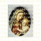 CATHOLIC VIRGIN MARY BABY JESUS MADONNA CHILDUNSET PORCELAIN CAMEO CAB 22-10