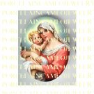 CATHOLIC VIRGIN MARY BABY JESUS MADONNA CHILDUNSET PORCELAIN CAMEO CAB 22-2