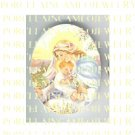 CATHOLIC VIRGIN MARY BABY JESUS MADONNA CHILD UNSET PORCELAIN CAMEO CAB 23-6