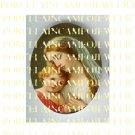 CATHOLIC CROWN VIRGIN MARY BABY JESUS MADONNA CHILD ROSE UNSET PORCELAIN CAMEO CAB 23-23