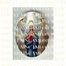 CATHOLIC CROWN VIRGIN MARY ANGEL PORCELAIN CAMEO CAB 23-25