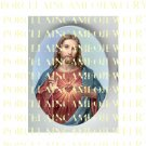 RELIGIOUS JESUS SACRED HEART * UNSET PORCELAIN CAMEO CAB 23-30