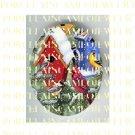 CARDINAL BLUEBIRD ROBIN COLLAGE BIRD HOUSE CAMEO PORCELAIN