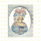 FRENCH QUEEN MARIE ANTOINETTE PINK* UNSET PORCELAIN CAMEO CAB
