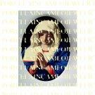 CATHOLIC VIRGIN MARY IN PRAYER * UNSET PORCELAIN CAMEO CAB 24-10