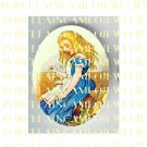 ALICE IN WONDERLAND UNSET PORCELAIN CAMEO CAB 18