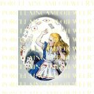 ALICE IN WONDERLAND PLAYING CARDS UNSET PORCELAIN CAMEO CAB