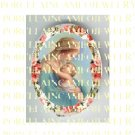 CATHOLIC VIRGIN MARY BABY JESUS ROSE MADONNA CHILD * UNSET PORCELAIN CAMEO CAB