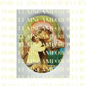 CATHOLIC VIRGIN MARY BABY JESUS MADONNA CHILD UNSET PORCELAIN CAMEO CAB 25-6