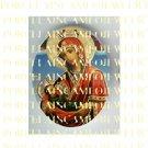 CATHOLIC CROWN VIRGIN MARY BABY JESUS MADONNA CHILD UNSET PORCELAIN CAMEO CAB 25-8