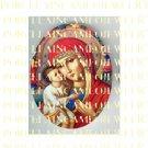 CATHOLIC ROSE VIRGIN MARY BABY JESUS MADONNA CHILD UNSET PORCELAIN CAMEO CAB 25-9