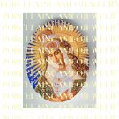 CATHOLIC CROWNED VIRGIN MARY UNSET PORCELAIN CAMEO CAB 25-10