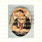 CATHOLIC VIRGIN MARY BABY JESUS MADONNA CHILD UNSET PORCELAIN CAMEO CAB 25-17