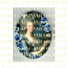 FRENCH QUEEN MARIE ANTOINETTE ROSE PORCELAIN CAMEO CAB