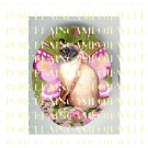 ROSESIAMESE CAT BUTTERFLY FAIRY* UNSET PORCELAIN CAMEO CAB