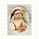 RELIGIOUS CATHOLIC SAINT TERESA PRAYING * UNSET PORCELAIN CAMEO CAB