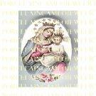 CATHOLIC VIRGIN MARY BABY JESUS MADONNA CHILD UNSET PORCELAIN CAMEO CAB 28-1