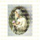 CATHOLIC VIRGIN MARY ROSE PRAYING  * UNSET PORCELAIN CAMEO CAB
